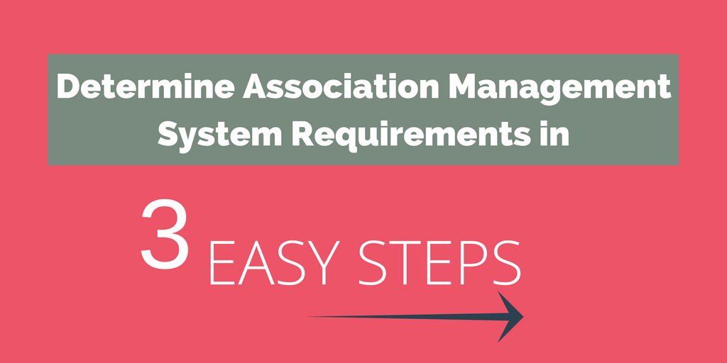Determining your Association Management System Requirements in 3 Easy Steps